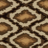 Seamless python snake skin pattern. Vector illustration. — Stock Vector