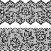 Vintage lace background, ornamental flowers. Vector texture. — Stock Vector