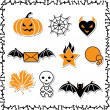 Set of cute vector Halloween icons for your design. — Stock Vector