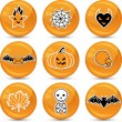 Stock Vector: Set of glossy vector Halloween icons for your design.