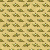 Vintage vector seamless pattern with cartoon crocodiles. — Stock Vector