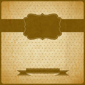 EPS10 vintage grunge old card. Background with place for text. — Stock Vector