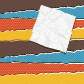 Torn scratch paper vintage background. Vector texture. — Stock Vector
