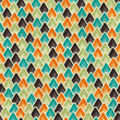 Seamless retro geometric pattern. EPS10 vector texture. — Stock Vector #12361791