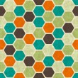 Seamless retro geometric pattern. EPS10 vector texture. — Stock Vector #12361825