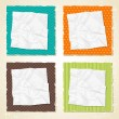 Torn scratch paper vintage background. Vector texture. — Stock Vector #12379396