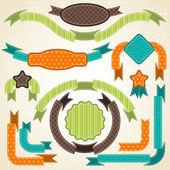 Conjunto de cintas retro y etiquetas. ilustración vectorial. — Vector de stock