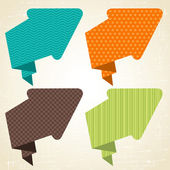 Vector origami background. Banner and speech bubbles. — Stock Vector