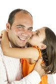 Daughter loves daddy — Stock Photo