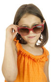 Little girl wearing sunglasses — Stock Photo