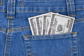 Dollars in a pocket — Stock Photo