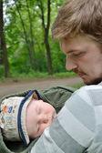 Baba ve oğul — Stok fotoğraf