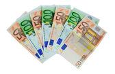 Notas de 50 e 100 euros — Foto Stock
