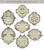 Vector set: vintage labels - inspired by floral retro originals — Stock Vector