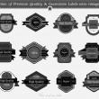 Royalty-Free Stock Vector Image: SET 16 : Collection of Premium Quality and Guarantee Labels with
