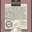 Coffee design template menu or banner or label.Vector backgroun — Stock Vector