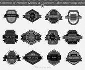 SET 16 : Collection of Premium Quality and Guarantee Labels with — Stock Vector