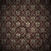 Excellent seamless floral pattern inr retro style. Vintage and g — Stock Vector
