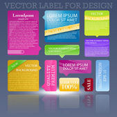 Design de modelo abstrato para fundo de negócios. cubos coloridos — Vetor de Stock