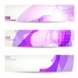 Set of three banners, abstract headers with blots — Stock Vector