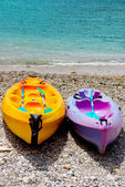 Two canoes kayak — Stock Photo