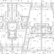 Foto Stock: CAD Architectural Plan