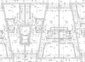 CAD Architectural Plan — Foto Stock