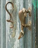 Manija de la puerta del pescado. — Foto de Stock