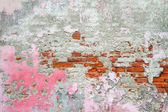 Brick wall with pink colour. — Stock Photo