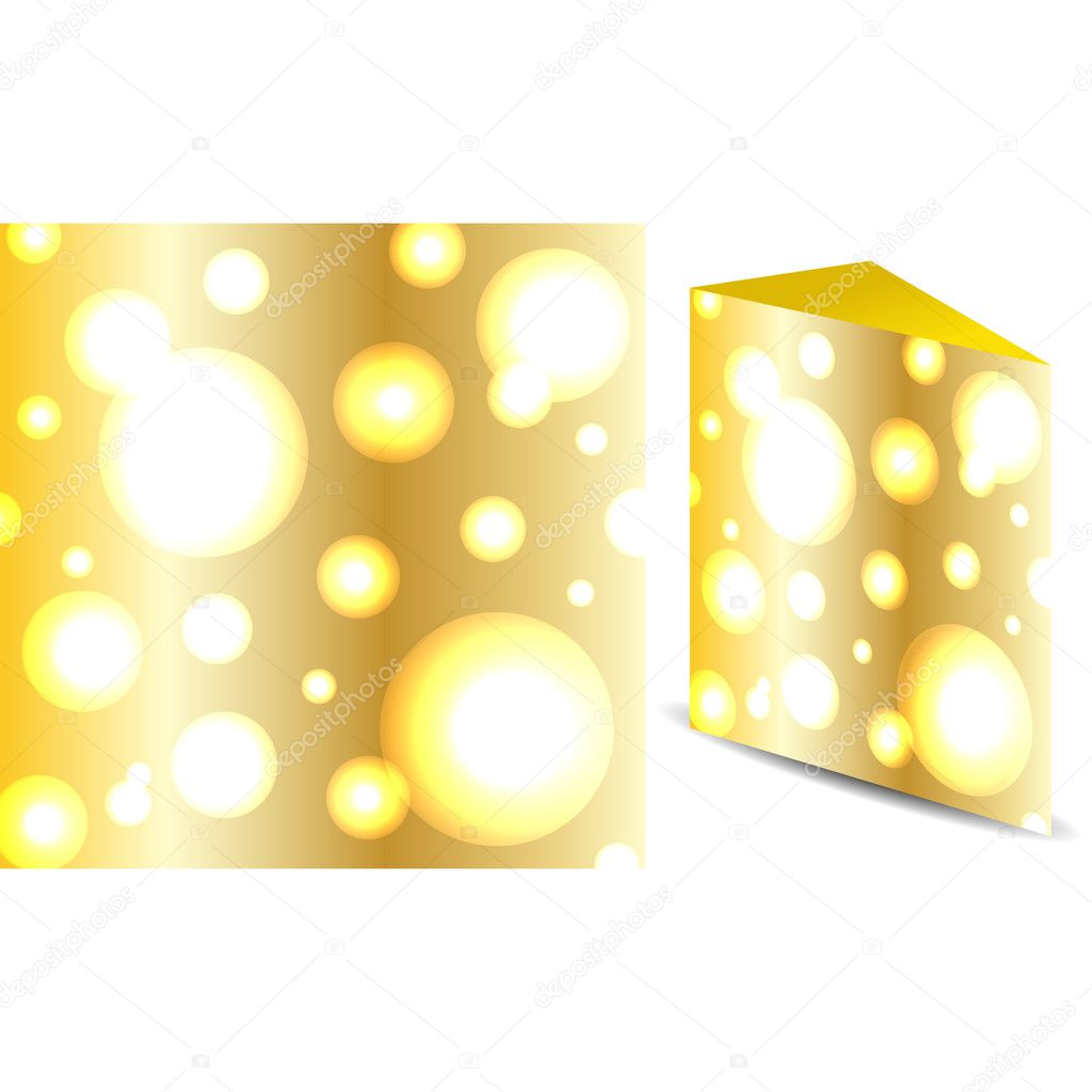 Cheese vector texture — Stock Vector #11068410