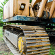 Caterpillar of construction machine - Stock Photo