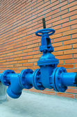 Blue pipe line — Stock Photo