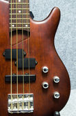 Close up of wooden bass — Стоковое фото