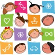 Royalty-Free Stock Vector Image: Babes with toys
