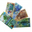 Photo of modern banknotes of Kazakhstan. — Stock Photo