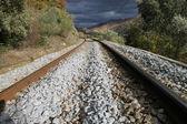 železnice v horách — Stock fotografie