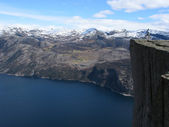 Pulpit Rock at Lysefjorden in Norway — Stock Photo