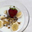 Breakfast of yogurt and fruits - Foto Stock