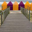 Beach tents — Stock Photo