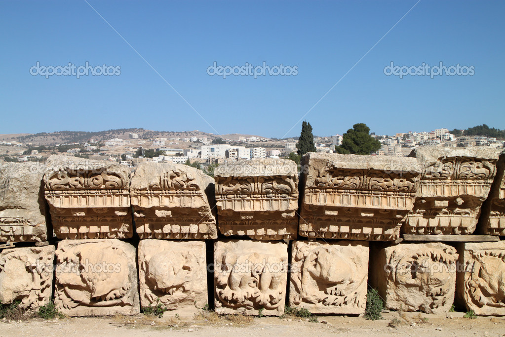 Detail in Jerash, Jordan  Stock Photo #11563807