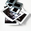 Pile of slides and old photographs — Stock Photo