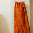 Orange towel - Stock Photo