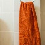 Orange towel — Stock Photo