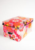 Store box with flowers — Stock Photo