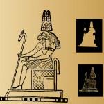 Egyptian monument - Ammon — Stock Vector #11030384
