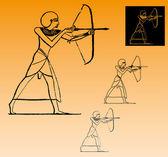 Egyptian archer — Stock Vector