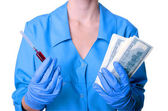 Medicine and money — Stock Photo