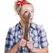 Girl with spanner — Stock Photo #11727324