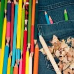 ������, ������: Penci in jeans pocketl color image