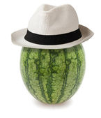 Watermelon whit hat — Stock Photo